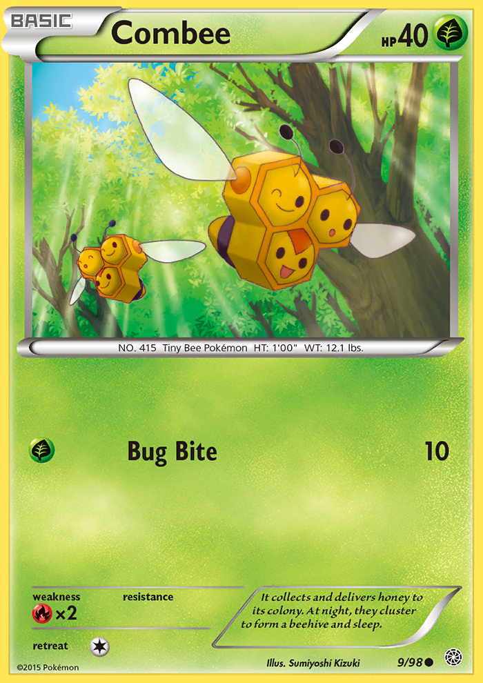 2015 Ancient Origins Combee Reverse Holo