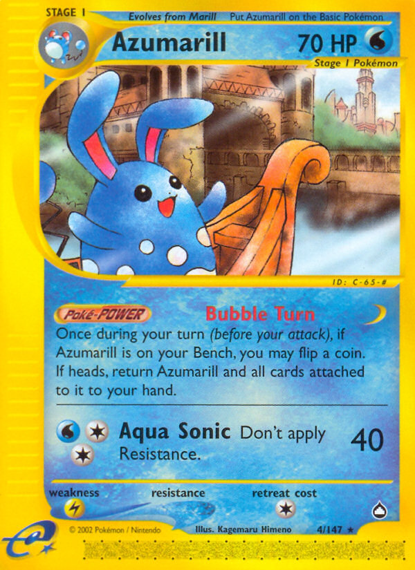 2003 Aquapolis Azumarill   Holo