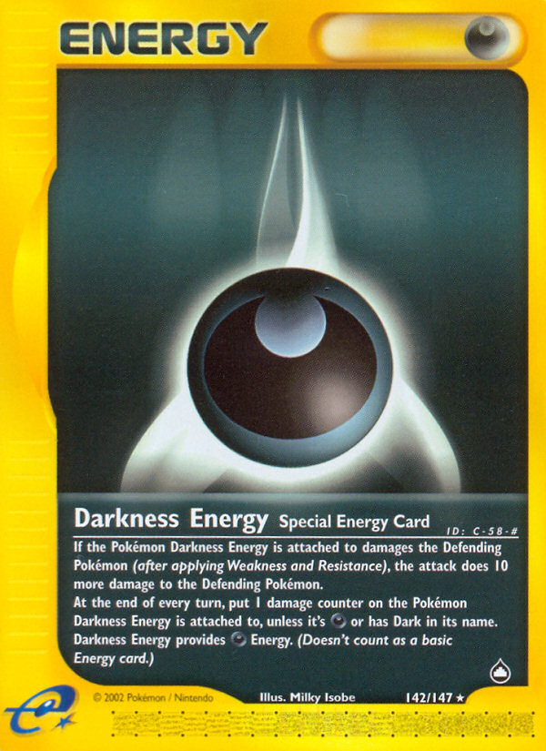 2003 Aquapolis Darkness Energy Reverse Foil