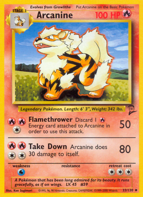 2000 Base Set II Arcanine