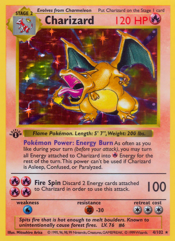 1999 Base Set Charizard   Holo