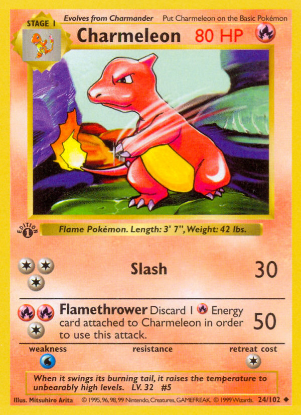 1999 Base Set Charmeleon Shadowless