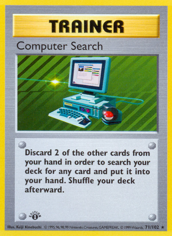 1999 Base Set Computer Search Trainer Deck B