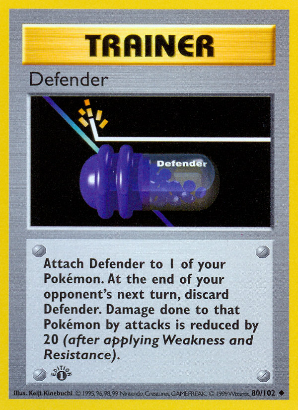1999 Base Set Defender 1st Edition