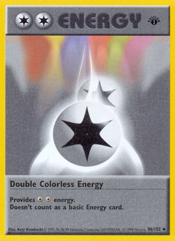1999 Base Set Double Colorless Energy 1st Edition