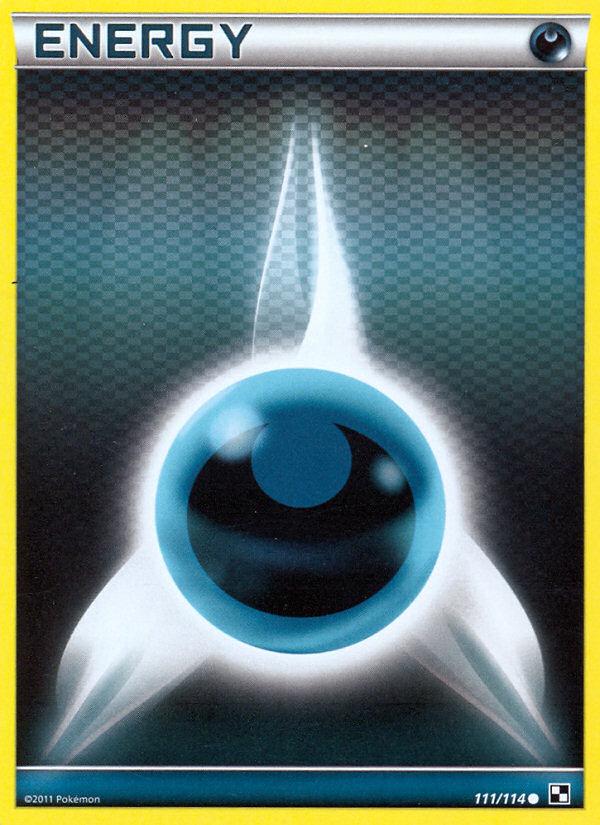 2011 Black & White Darkness Energy Crosshatch-Holo Pokemon League