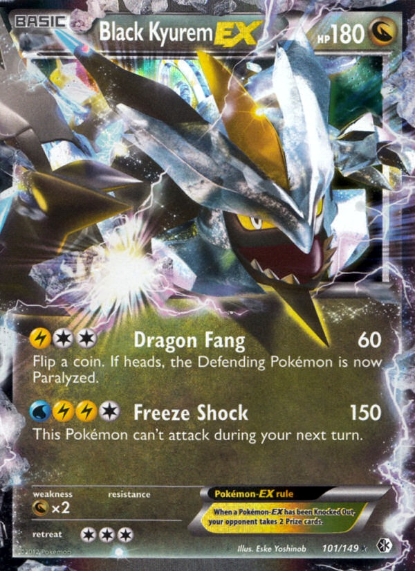 2012 Boundaries Crossed Black Kyurem EX   Holo