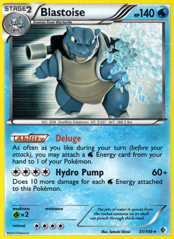 2012 Boundaries Crossed Blastoise   Holo