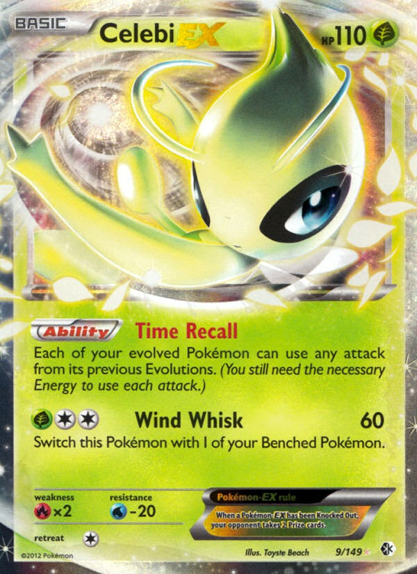 2012 Boundaries Crossed Celebi EX   Holo