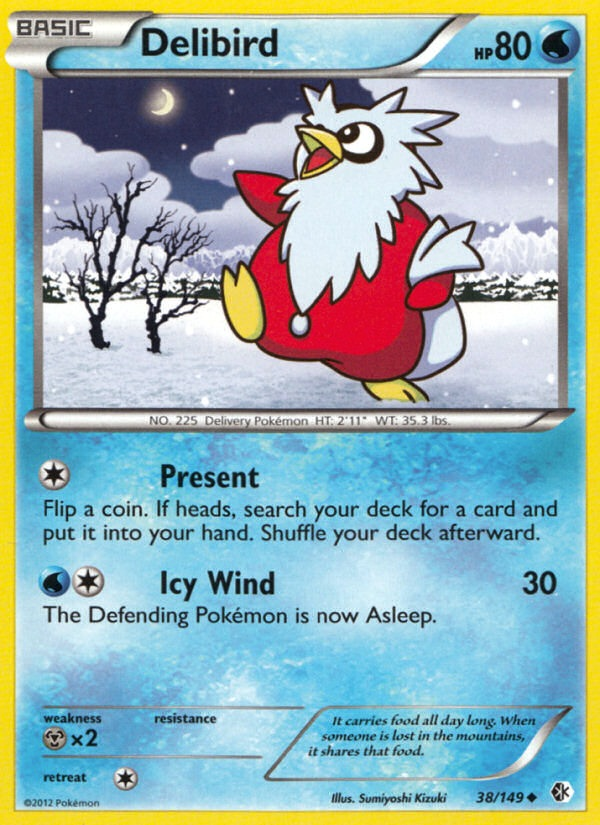 2012 Boundaries Crossed Delibird X-Hatch Holo-2nd Place Pokemon League/Challenge Promo