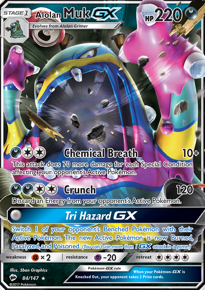 2017 Burning Shadows Alolan Muk GX