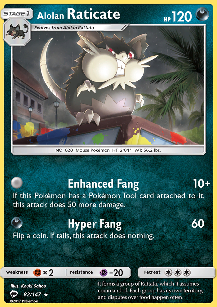2017 Burning Shadows Alolan Raticate