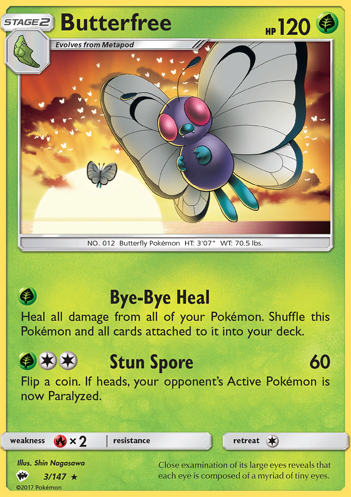 2017 Burning Shadows Butterfree Reverse Foil