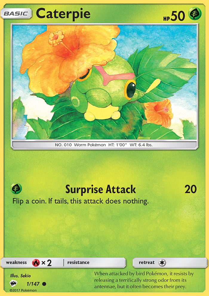 2017 Burning Shadows Caterpie