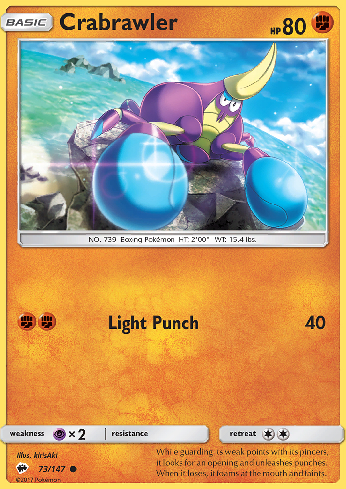 2017 Burning Shadows Crabrawler Reverse Foil