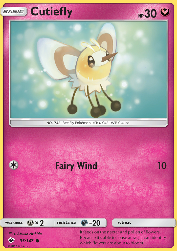 2017 Burning Shadows Cutiefly Reverse Foil