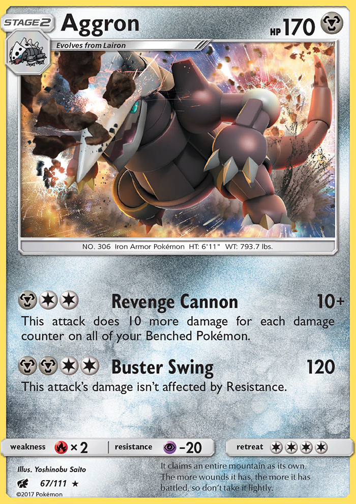 2017 Crimson Invasion Aggron   Holo