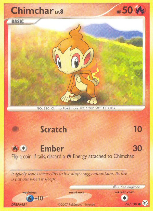 2007 Diamond & Pearl Chimchar   Holo