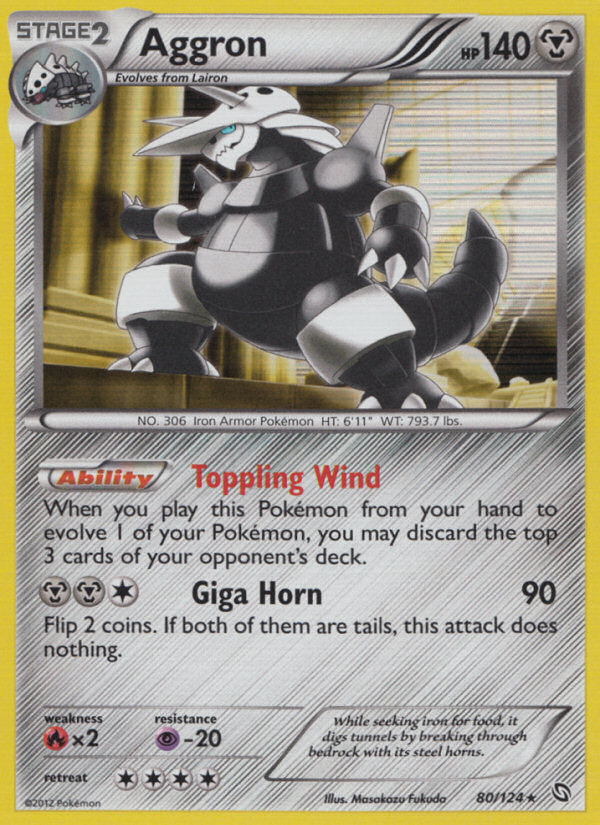 2012 Dragons Exalted Aggron   Holo