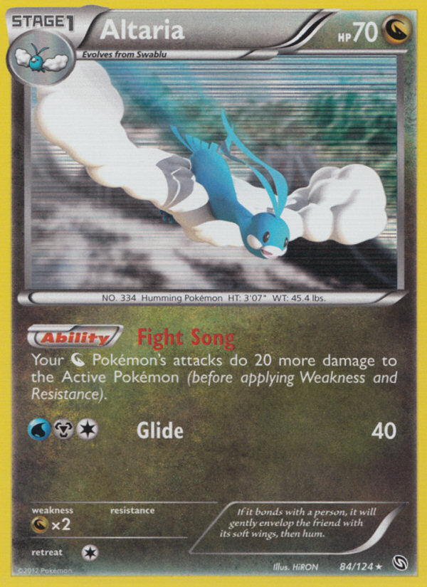 2012 Dragons Exalted Altaria   Holo