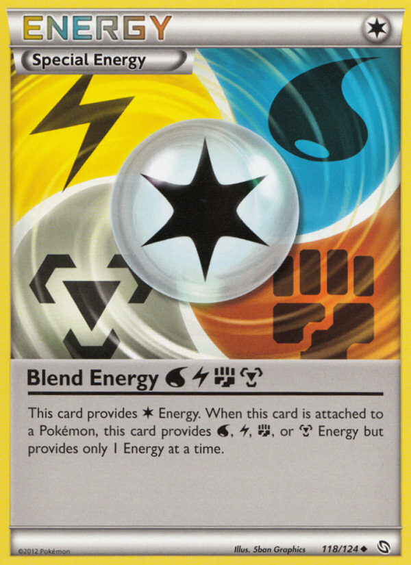 2012 Dragons Exalted Blend Energy Crosshatch-Holo-Pokemon League