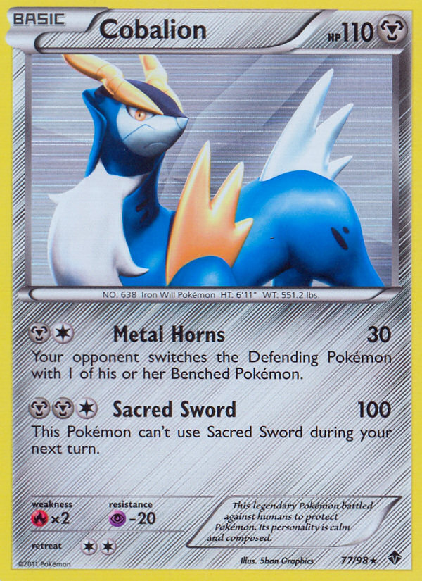 2011 Emerging Powers Cobalion   Holo