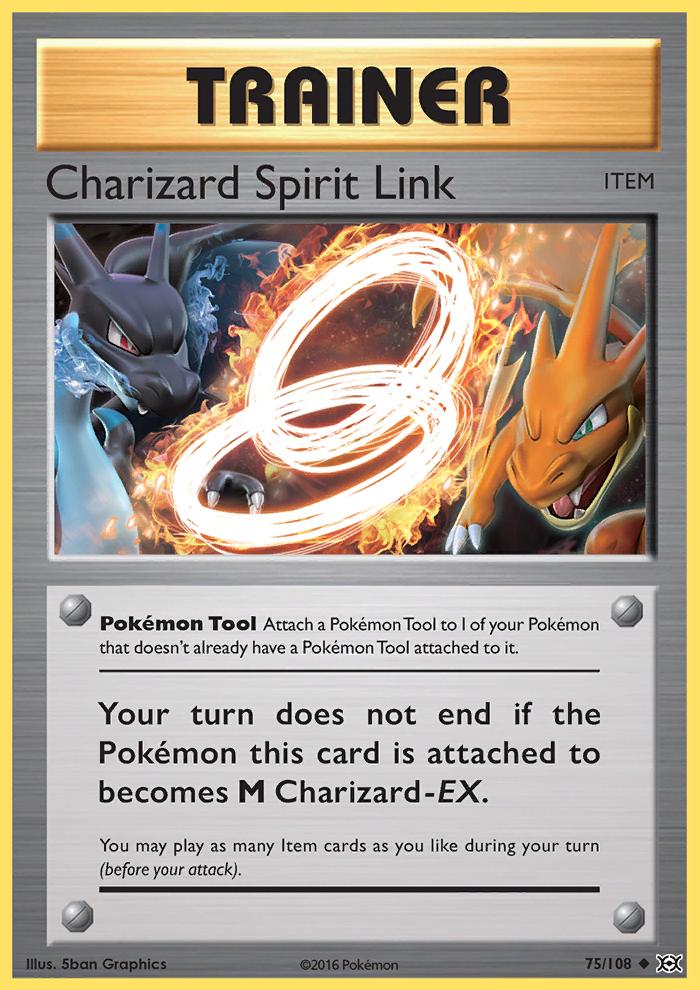 2016 Evolutions Charizard Spirit Link Reverse Foil