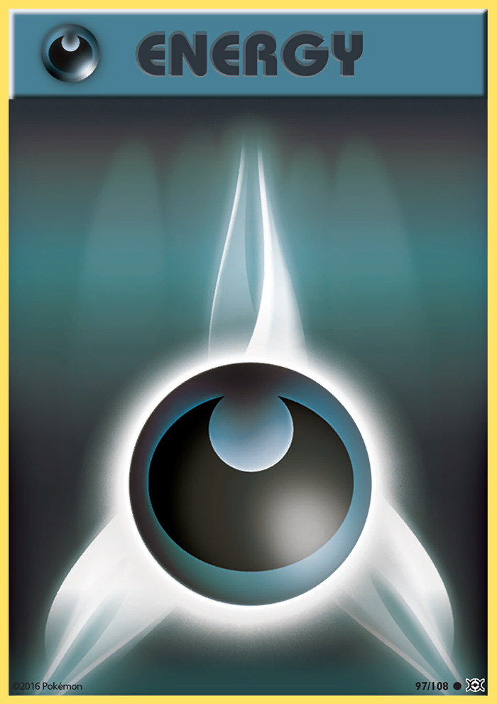 2016 Evolutions Darkness Energy Reverse Foil