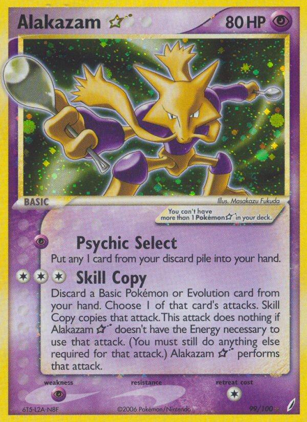 2006 EX Crystal Guardians Alakazam Gold Star  Holo