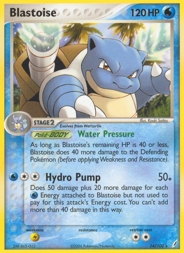 2006 EX Crystal Guardians Blastoise National Championships-Staff