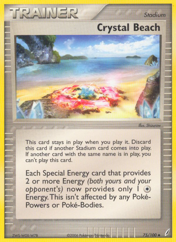2006 EX Crystal Guardians Crystal Beach Reverse Foil