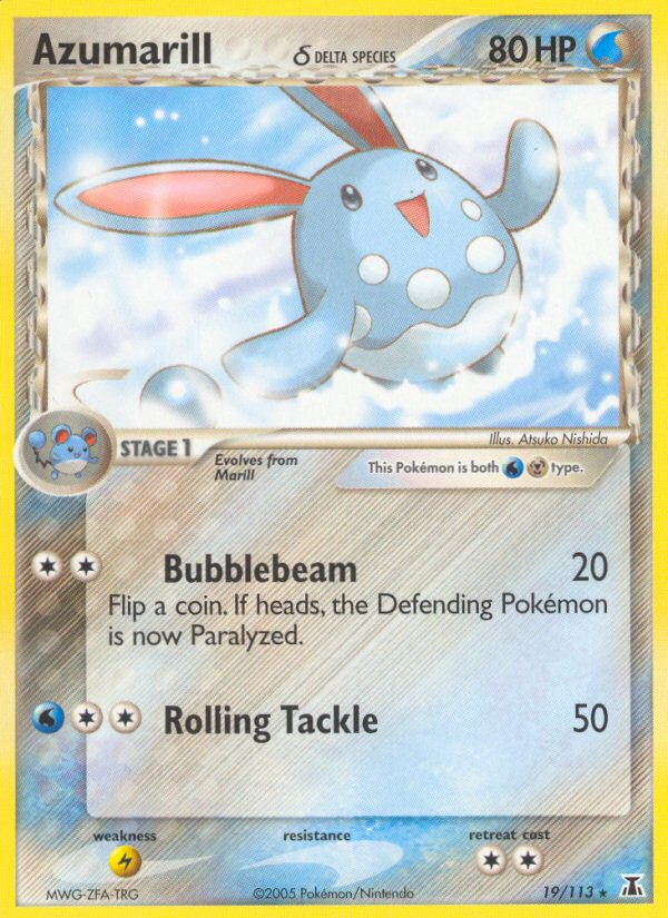 2005 EX Delta Species Azumarill Reverse Foil