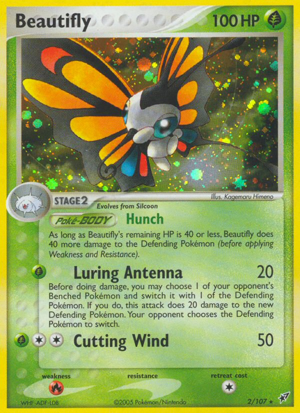 2005 EX Deoxys Beautifly   Holo