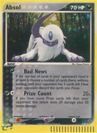 2003 EX Dragon Absol Reverse Foil
