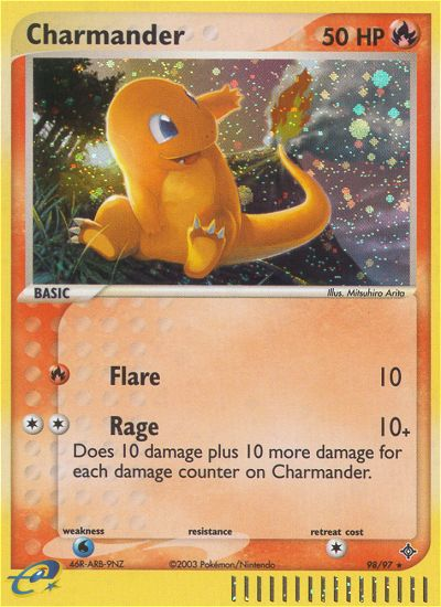 2003 EX Dragon Charmander   Holo