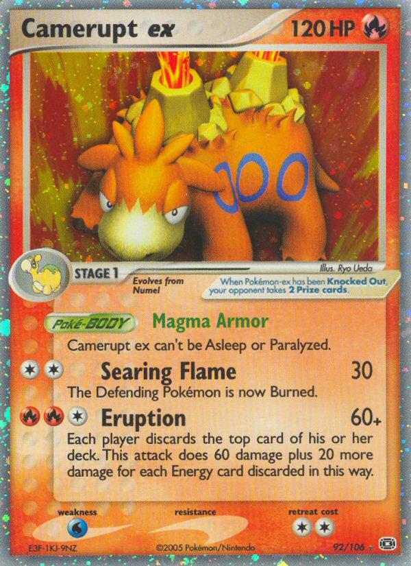 2005 EX Emerald Camerupt EX   Holo