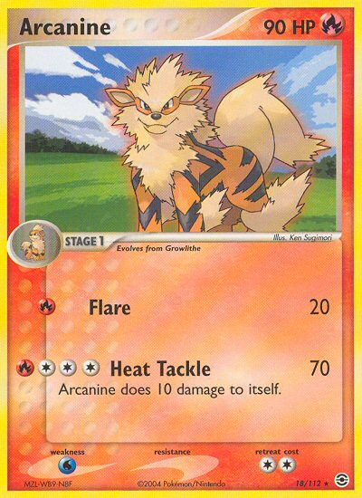 2004 EX Fire Red Leaf Green Arcanine