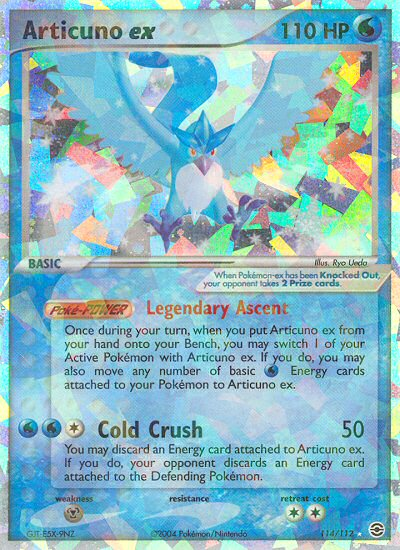 2004 EX Fire Red Leaf Green Articuno EX   Holo