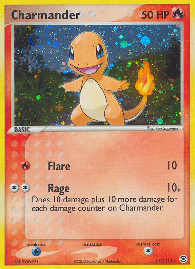 2004 EX Fire Red Leaf Green Charmander   Holo