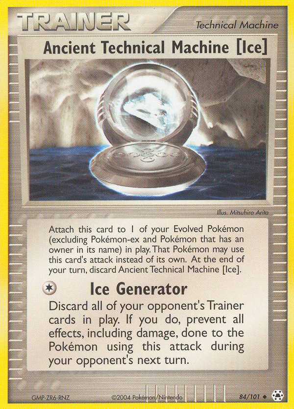 2004 EX Hidden Legends Ancient Technical Machine [Ice] Reverse Holo