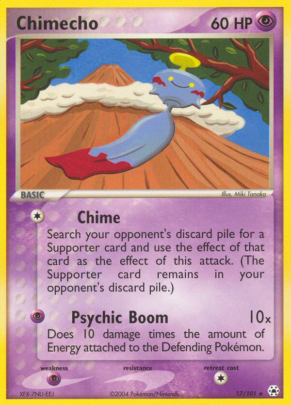 2004 EX Hidden Legends Chimecho Reverse Holo