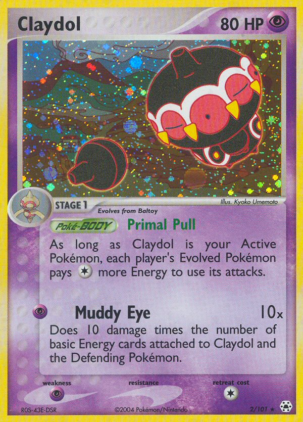 2004 EX Hidden Legends Claydol Reverse Holo
