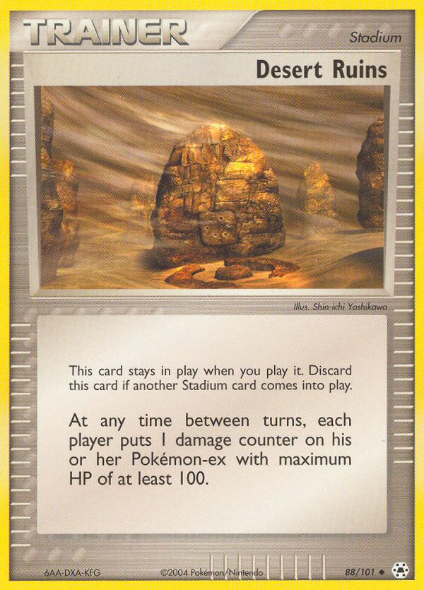 2004 EX Hidden Legends Desert Ruins Reverse Holo