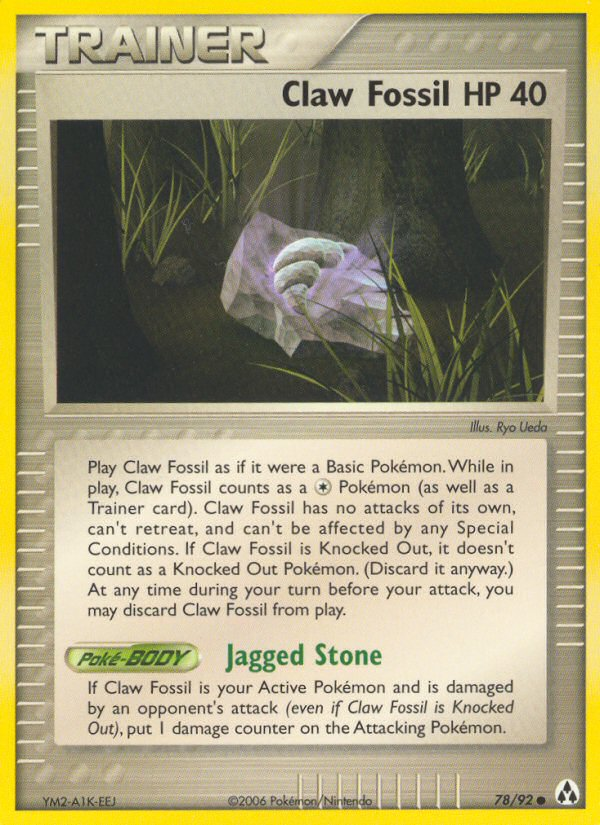 2006 EX Legend Maker Claw Fossil HP 40 Reverse Foil