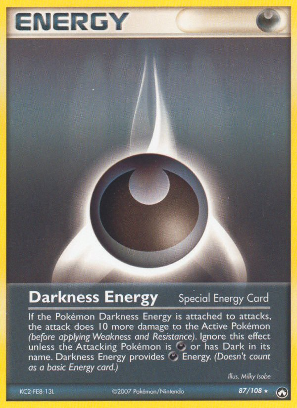 2007 EX Power Keepers Darkness Energy
