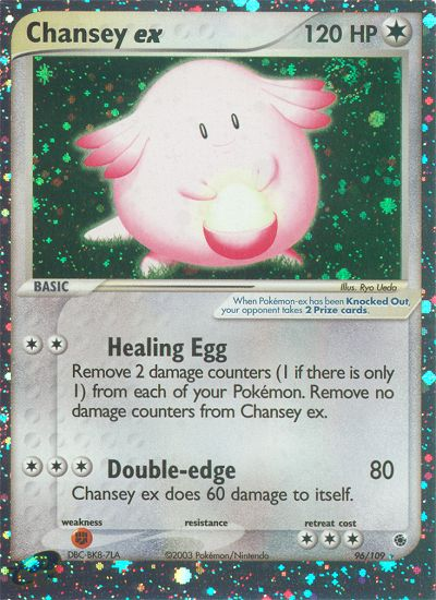 2003 EX Ruby & Sapphire Chansey EX   Holo