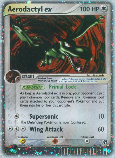2003 EX Sandstorm Aerodactyl EX   Holo