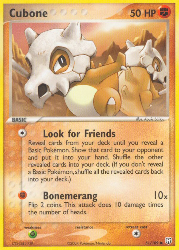 2004 EX Team Rocket Returns Cubone