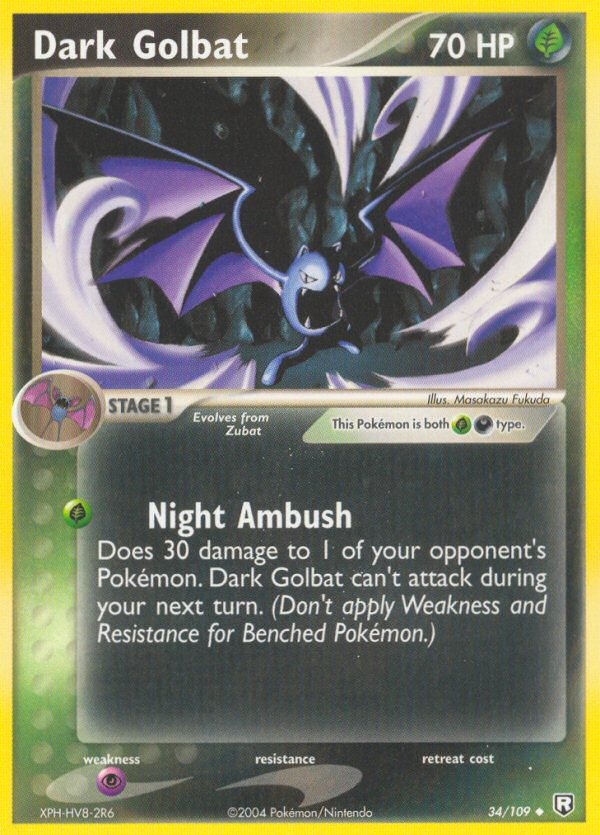 2004 EX Team Rocket Returns Dark Golbat Reverse Foil