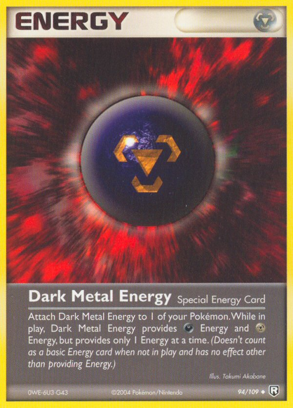 2004 EX Team Rocket Returns Dark Metal Energy